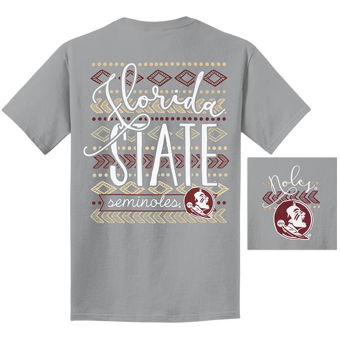 7c37256deaf5 Comfort Colors Garment Dyed Unisex T-shirt with Florida State Seminoles Tribal  Design Granite